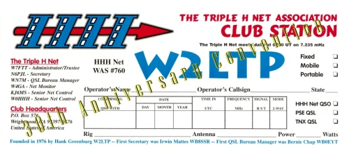 Convention QSL Card